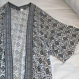 Garage Black and White Kimono
